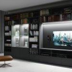 Oświetlenie półek i TV -profilem LED